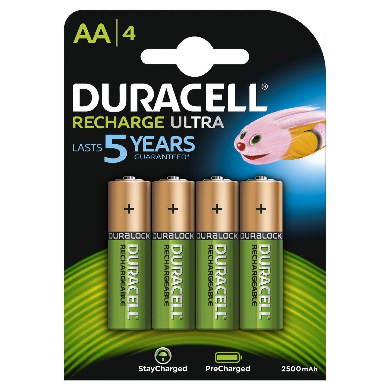 Duracell Recharge Ultra, AA, 1.5V, 2500mAh (4pz)