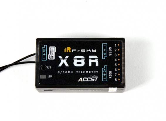 FrSky X8R 8/16Ch S.Bus ACCST Telemetry Receiver W/Smart Port