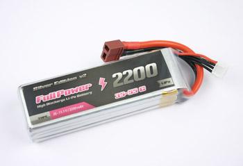FullPower - Batteria Lipo 2S 2200mAh 35C Silver V2 - DEANS