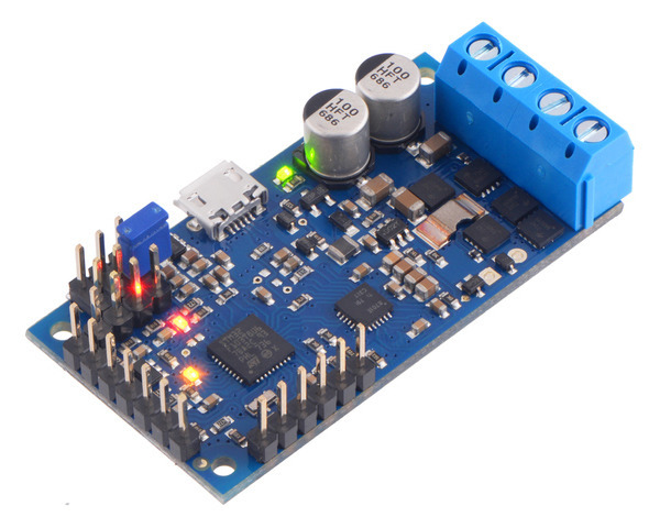 High-Power Simple Motor Controller G2 24v12 (Connectors Soldered