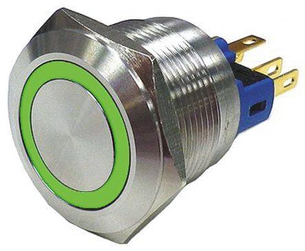 Interruttore a pulsante SPDT (singolo polo, doppio contatto) RS
