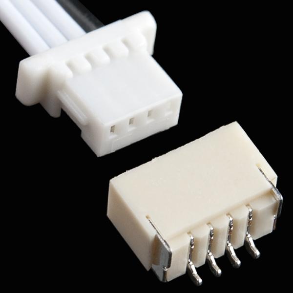 "JST SH Jumper 4 Wire Assembly - 8"""