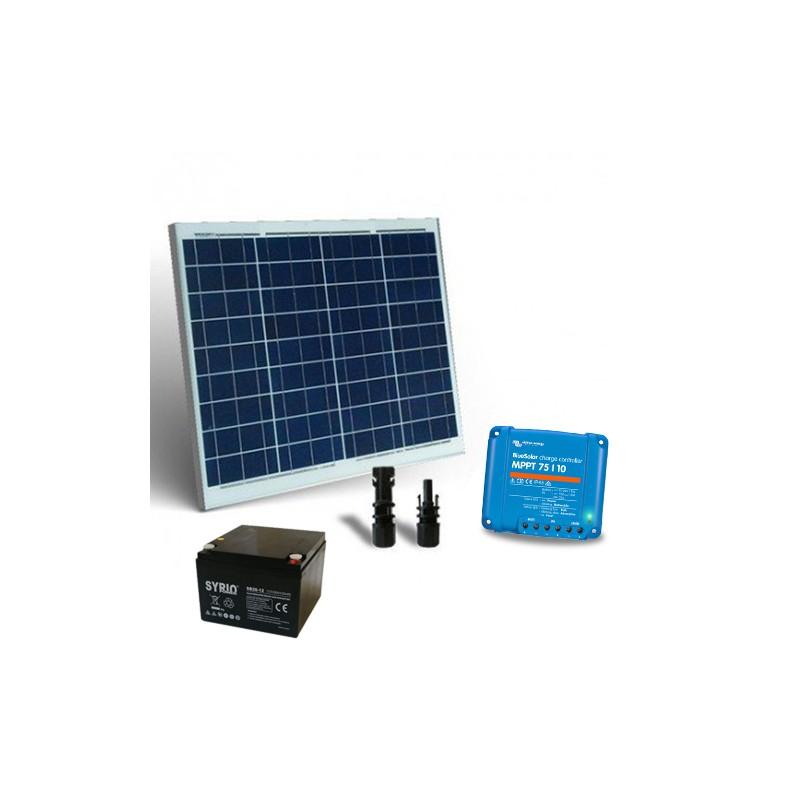 Kit Solare 50W 12V Pro2 Pannello Fotovoltaico Regolatore 10A MPP