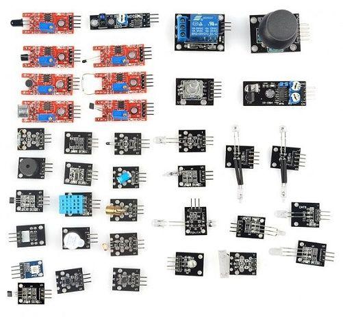 Kit di sensori e moduli 37 in 1 per Arduino e Raspberry Pi