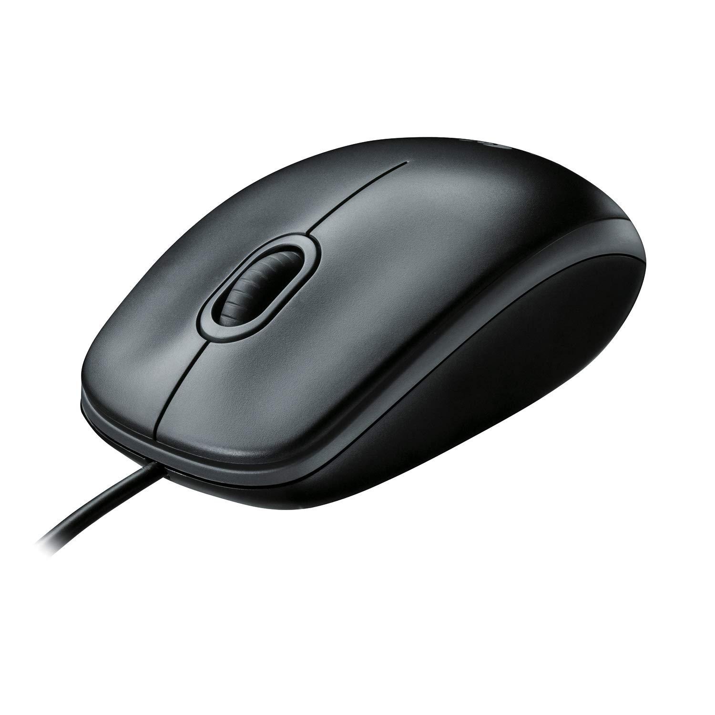 Logitech B100 Mouse con USB, Nero