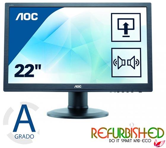 MONITOR 22 LED FULL HD VGA/DVI MULTIMEDIALE BLACK REFURBISHED GA