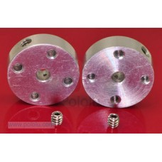 Pololu Universal Aluminum Mounting Hub for 3mm Shaft, #2-56 Hole