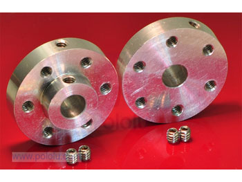 Pololu Universal Aluminum Mounting Hub for 6mm Shaft, #4-40 Hole
