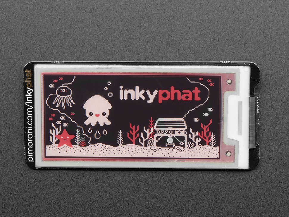 Pimoroni Inky pHAT for Raspberry Pi - 3 Color eInk Display