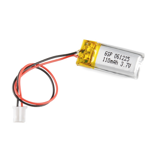 Polymer Lithium Ion Battery - 110mAh