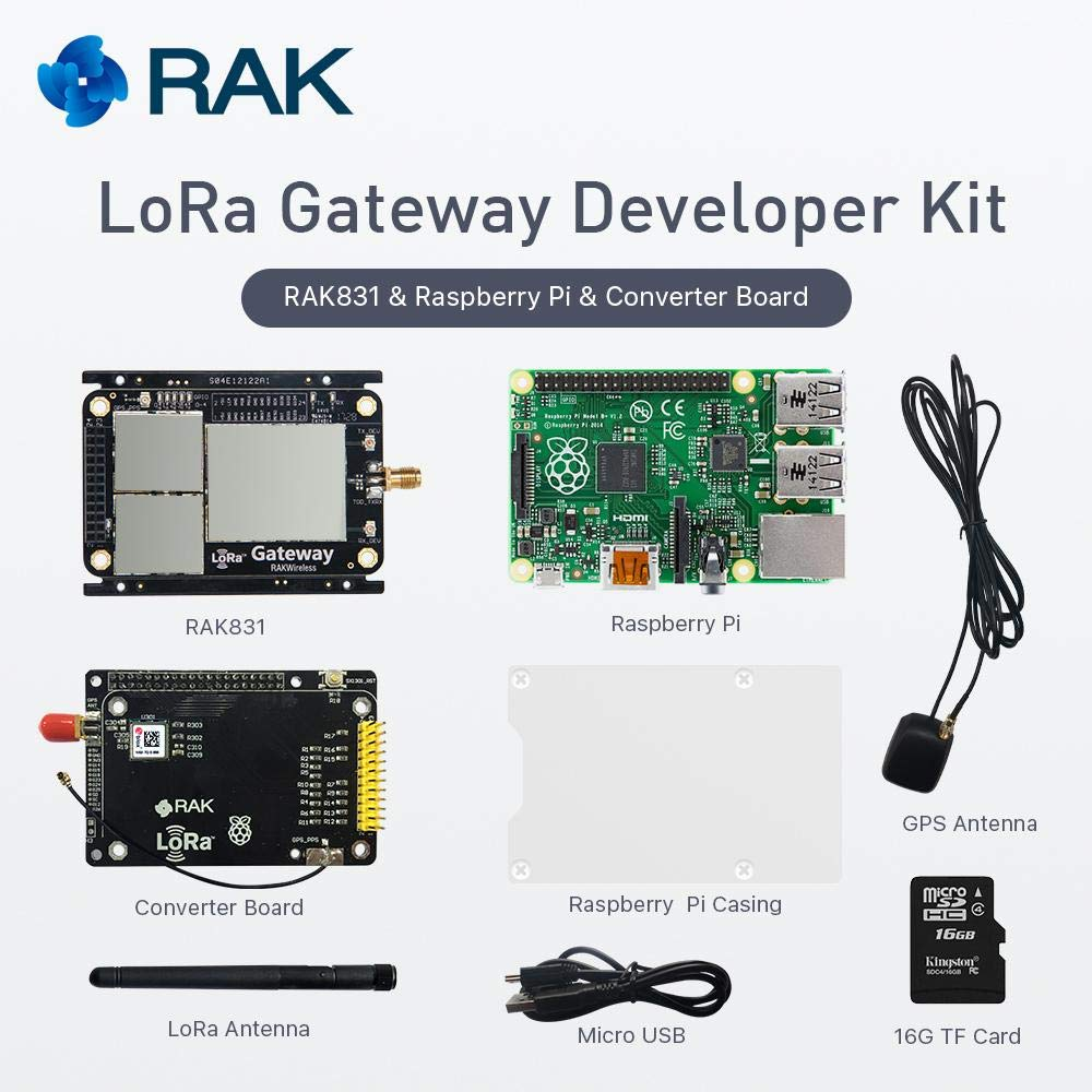 RAKwireless RAK831 Lora/LoRaWan Gateway Developer Kit with Raspb