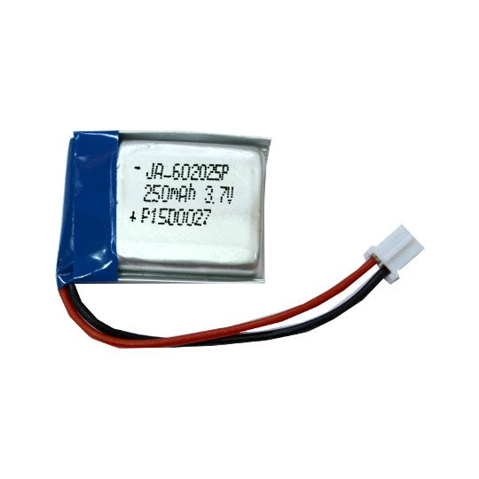 RECHARGABLE LI-PO BATTERY 3.7V 250MAH WITH JST CONNECTOR