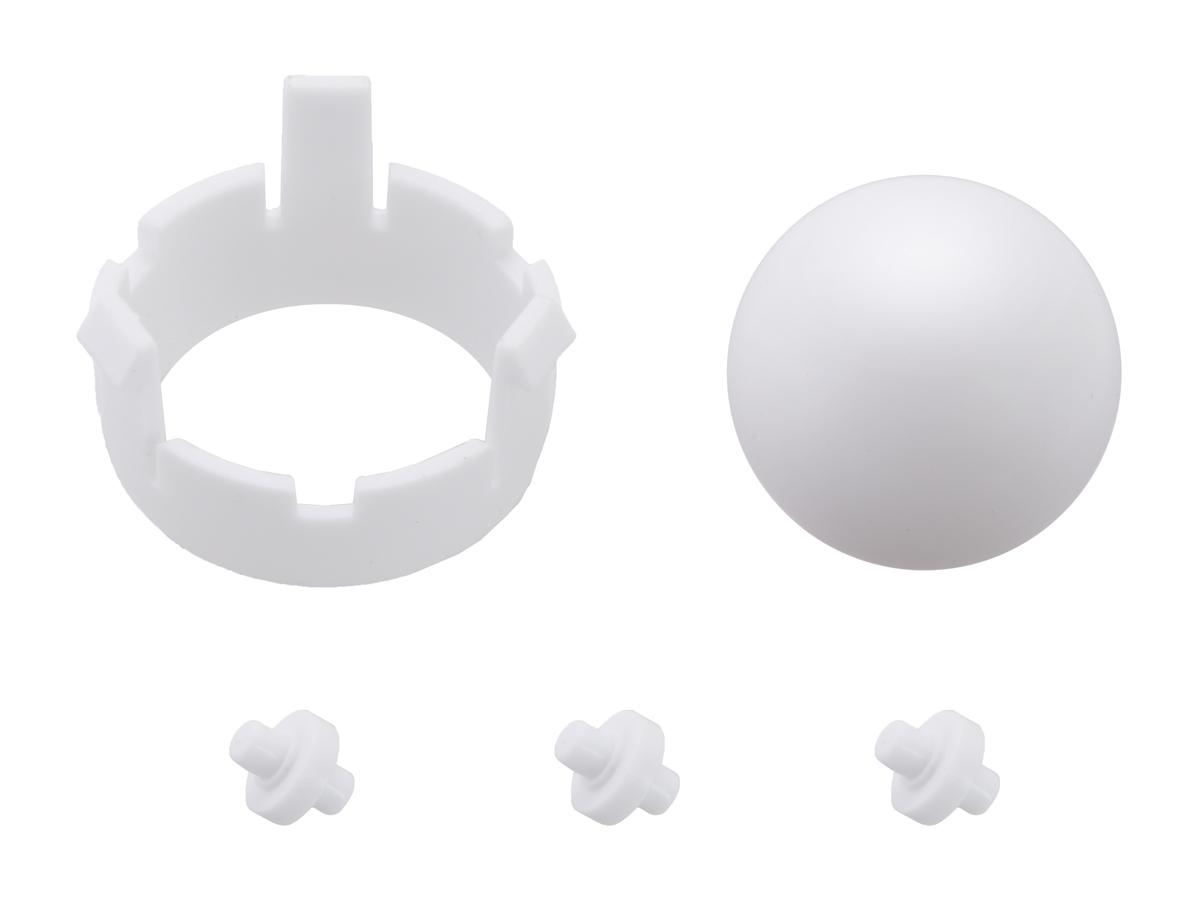 Romi Chassis Ball Caster Kit - White