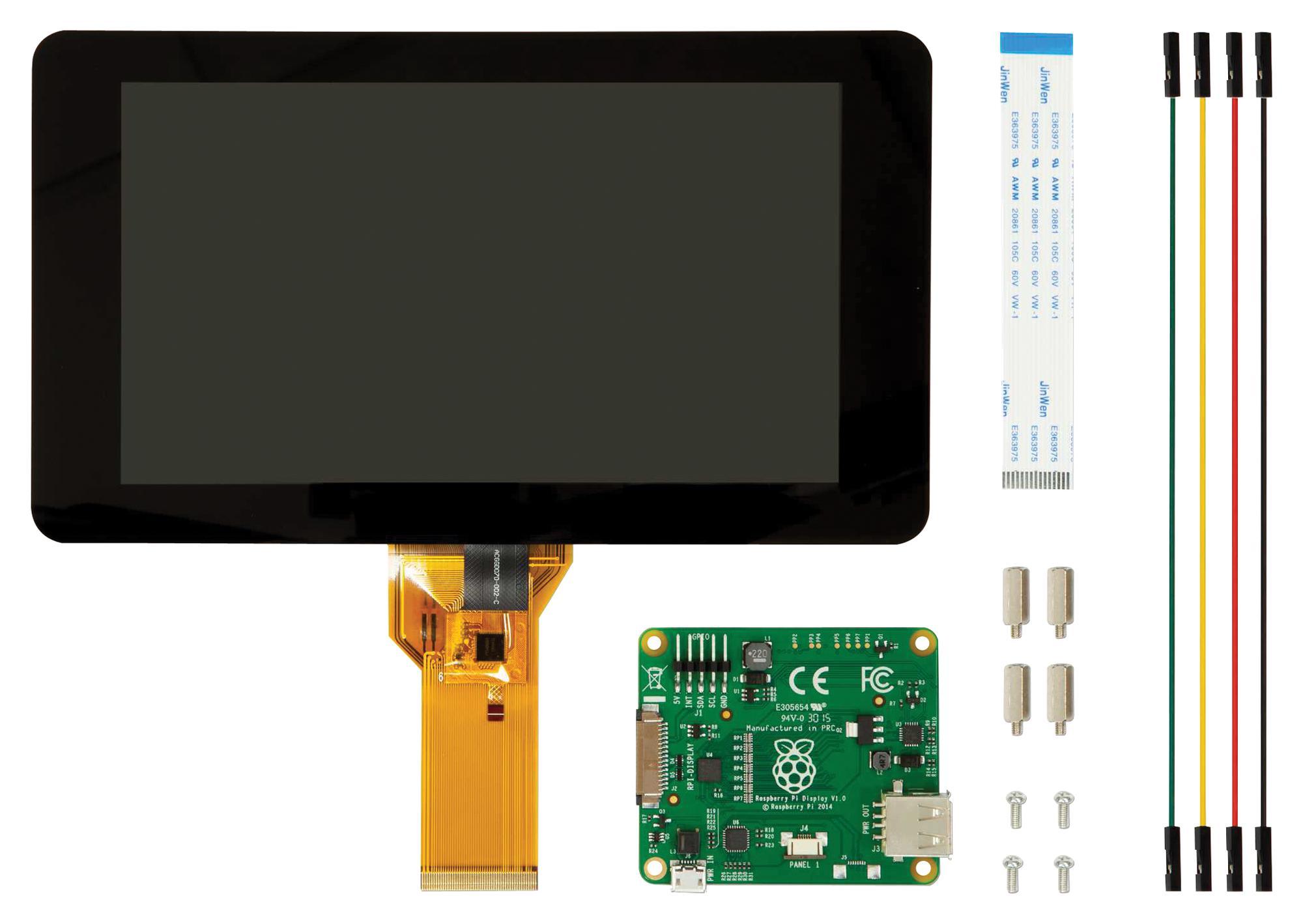 """Schermo touch Raspberry Pi 7"""" con tocco capacitivo a 10 dita"""