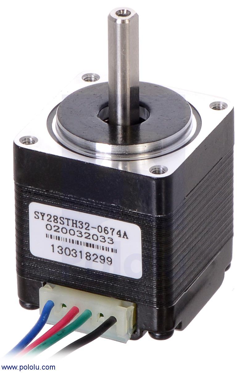 Stepper motor nema 11 bipolar 200 steps rev 28 32mm for Nema 11 stepper motor