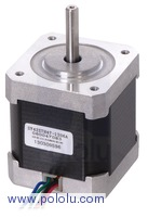 Stepper Motor: Unipolar/Bipolar, 200 Steps/Rev, 42×48mm, 4V, 1.2