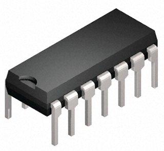 Switch analogico CD4066BE Quad SPST, 4 canali, PDIP 14 pin