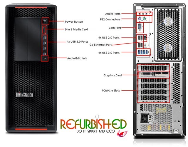 THINKSTATION P500 TOWER XEON QUAD-CORE@E5-1620 32GB 500GB+ SSD@2