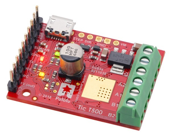 Tic T500 USB Multi-Interface Stepper Motor Controller (Connector
