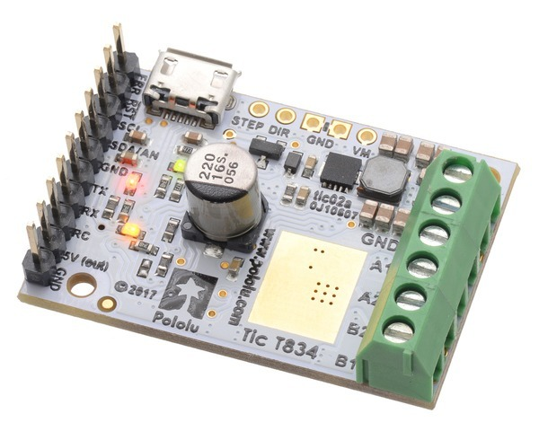 Tic T834 USB Multi-Interface Stepper Motor Controller (Connector