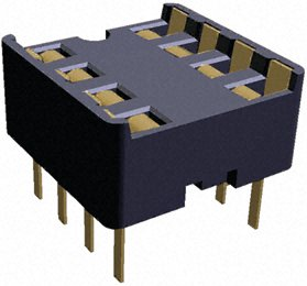 Zoccoli DIL IC Socket DIP8 2.54mm Diplomate