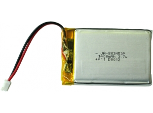 Rechargable LI-PO battery 3.7V 1400mAh with JST connector