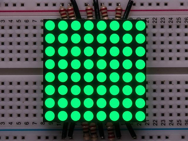 Small 1.2 8x8 Ultra Bright Pure Green LED Matrix