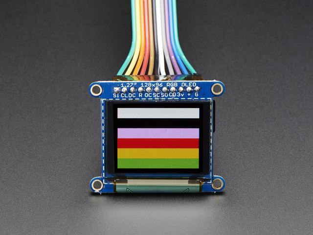 OLED Breakout Board - 16-bit Color 1.27 w/microSD holder