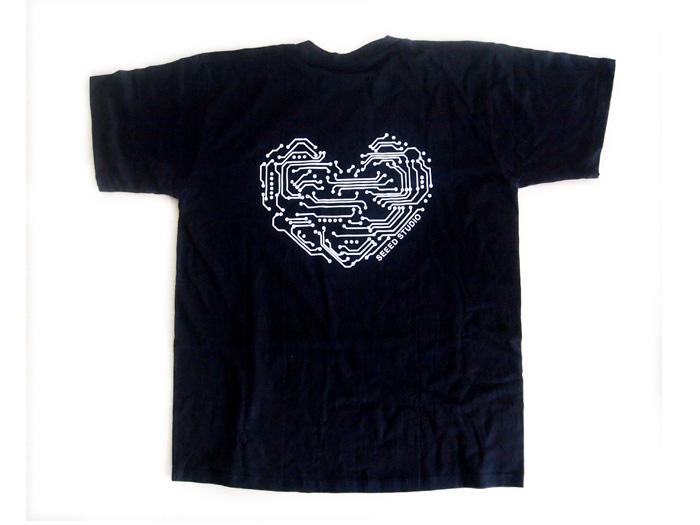 Seeed T-shirt - Geek Heart - XXL(Europe)