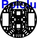 Pololu 5 (inches) Robot Chassis RRC04A Solid Black