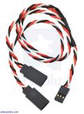 Twisted Servo Y Splitter Cable 12 (inches) Female - 2x Male