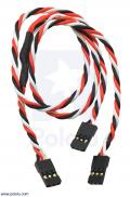 Twisted Servo Y Splitter Cable 12 (inches) Female - 2x Female