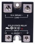 Solid State Relay, 10 A, 280 VAC, Panel, Screw, Zero Crossing
