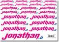 Foglio decals 150x210 mm 21 loghi Jonathan