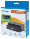 Docking Station 3 Porte USB Ricarica Smartphone e Tablet OTG Ner