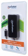 Adattatore USB-C™ 4 in 1 a  DP/HDMI/DVI/VGA Nero