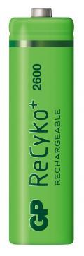 Blister 4 Batterie Ricaricabili AA Stilo 2600mAh GP ReCyko+