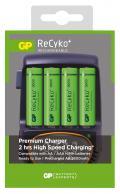 Caricabatterie Rapido 4 AA/AAA con 4 batterie AA 2600mAh USB/Aut