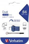 Memoria USB 3.0 Dual Drive USB-C™ USB-A 64GB