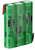 Batterie Ricaricabili NiMH 3xAAA HR3 800 mAh 3.6V a Saldare