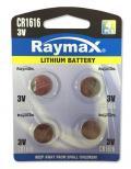 Batterie a Bottone Litio CR1616 (set 4 pz)