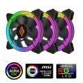 VENTOLA ZEPHYR 120 RGB 3IN1 PWM BLK PACK 3 VENTOLE 120MM ARGB CO