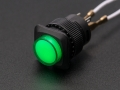 16mm Illuminated Pushbutton - Green Momentary