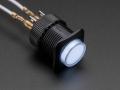 16mm Illuminated Pushbutton - White Momentary