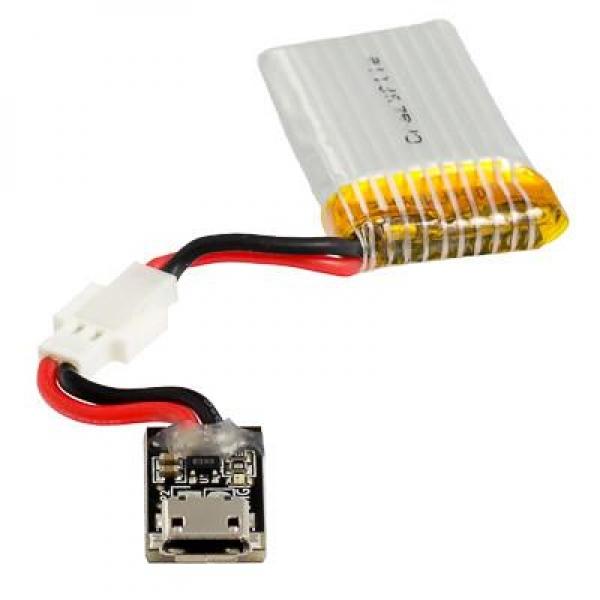 240mAh LiPo battery including 500mA USB charger