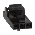 3 Position Rectangular Housing Connector Receptacle Black 0.100""
