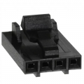 4 Position Rectangular Housing Connector Receptacle Black 0.100""
