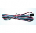 4-wire cable, Red Blue Green Black (1m)