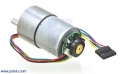 50:1 Metal Gearmotor 37Dx54L mm with 64 CPR Encoder