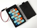 6 x AA Battery Holder with 5.5mm/2.1mm plug